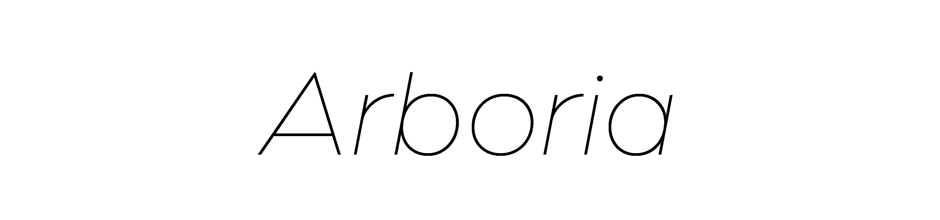arboria black font
