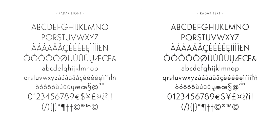 "Radar, a font family with a Spanish accent"" by Marta Sánchez Marco"